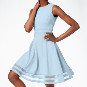 Calvin Klein Like New Illusion Fit & Flare Dress